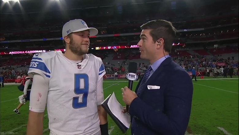 Matthew Stafford was impressed with the Lions' defensive performance against the Cardinals