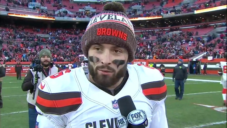 Baker Mayfield: We were able to execute some big plays against the Panthers