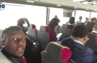 'Today's going to be a big boy game': Panthers LB Thomas Davis takes you on the bus