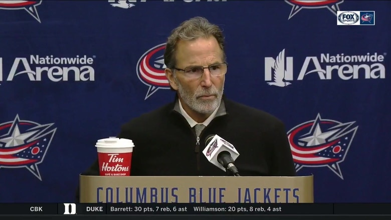 Coach Tortorella was visibly angry with the Blue Jackets loss to the Capitals