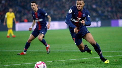 <p>               FILE  - In this Saturday, Dec. 22, 2018 file photo, Paris St Germain's Kylian Mbappe runs for the ball during the League One soccer match between Paris Saint Germain and Nantes at the Parc des Princes stadium in Paris. French media are joining in support of L'Equipe after the newspaper said its reporters had been banned from recent Paris Saint-Germain news conferences. According to L'Equipe, PSG banned its journalists after the newspaper published a story this month hinting the club would be forced to sell star forward Neymar or Kylian Mbappe because of financial fair play rules. (AP Photo/Francois Mori, File             </p>