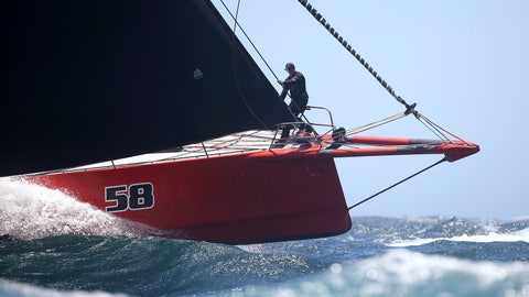<p>               The bowman of Comanche directs his helmsman during the start of the Sydney Hobart yacht race in Sydney, Wednesday, Dec. 26, 2018. The 630-nautical mile race has 85 yachts starting in the race to the island state of Tasmania. (AP Photo/Rick Rycroft)             </p>