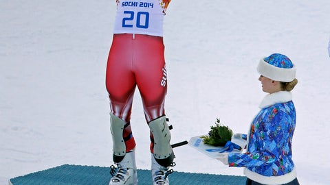 <p>               FILE - In this Feb. 14, 2014 file photo, gold medalist Switzerland's Sandro Viletta celebrates during the flower ceremony for the men's supercombined at the 2014 Winter Olympics, in Krasnaya Polyana, Russia. Viletta has retired from skiing because of persistent injuries. The 32-year-old Swiss racer says he no longer has full confidence in his skiing after twice rupturing knee ligaments in the past two years. (AP Photo/Charlie Riedel)             </p>