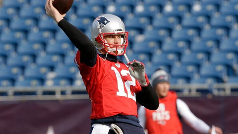 <p>               New England Patriots quarterback Tom Brady winds up to throw the ball during an NFL football practice, Thursday, Dec. 20, 2018, in Foxborough, Mass. (AP Photo/Steven Senne)             </p>