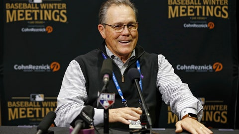 <p>               Kansas City Royals manager Ned Yost speaks during a news conference at the Major League Baseball winter meetings, Tuesday, Dec. 11, 2018, in Las Vegas. (AP Photo/John Locher)             </p>