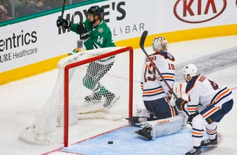 Benn's 5th goal in 6 games helps Stars beat Oilers 4-1