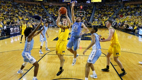 <p>               FILE - In this Nov. 28, 2018, file photo, Michigan forward Ignas Brazdeikis (13) drives against North Carolina in the first half of an NCAA college basketball game, in Ann Arbor, Mich. No. 12 North Carolina hasn't been good enough defensively in either of its two losses. The Tar Heels can't afford to repeat those issues Saturday with fourth-ranked Gonzaga coming to Chapel Hill. (AP Photo/Paul Sancya, File)             </p>