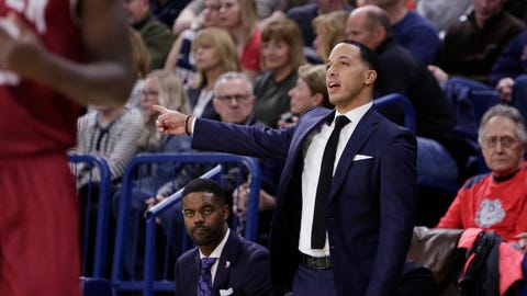 <p>               Denver head coach Rodney Billups directs his team during the first half of an NCAA college basketball game against Gonzaga in Spokane, Wash., Friday, Dec. 21, 2018. (AP Photo/Young Kwak)             </p>