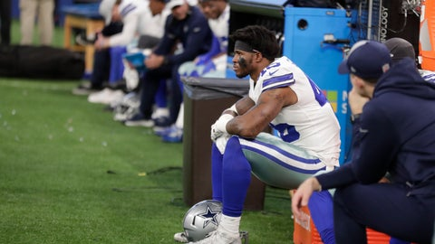 <p>               Dallas Cowboys' Rod Smith watches from the bench during the second half of an NFL football game against the Indianapolis Colts, Sunday, Dec. 16, 2018, in Indianapolis. (AP Photo/Michael Conroy)             </p>
