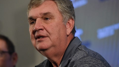 <p>               Paul Johnson speaks during a press conference about his retirement, Thursday, Nov. 29, 2018, in Atlanta. Johnson, the longest-serving Georgia Tech NCAA college football coach in a half-century, announced his retirement Wednesday after 11 seasons with the team. (AP Photo/Annie Rice)             </p>