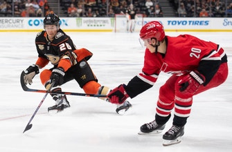 Hurricanes end Ducks' 5-game win streak with 4-1 victory