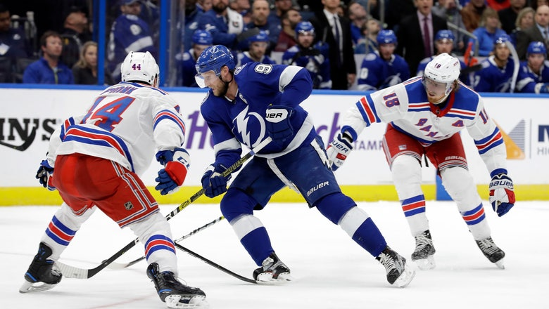 Stamkos hat trick sparks Lightning to 6-3 win over Rangers