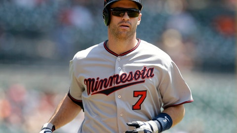 <p>               FILE - In this July 20, 2016, file photo, Minnesota Twins' Joe Mauer heads home after his solo home run during the first inning of a baseball game against the Detroit Tigers, in Detroit.  The Minnesota Twins will retire Joe Mauer's No. 7 jersey next season, moving swiftly with the prestigious honor for the six-time All-Star who recently finished a 15-year major league career. The Twins surprised Mauer with the announcement while he was being celebrated at an all-student assembly at his alma mater Cretin-Derham Hall High School on Tuesday, Dec. 18, 2018.(AP Photo/Carlos Osorio, File)             </p>