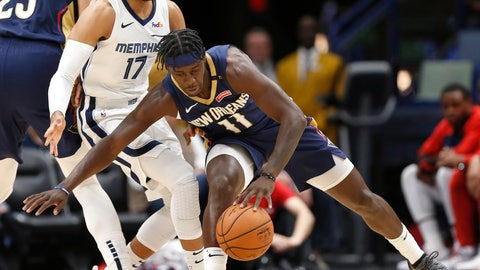 <p>               New Orleans Pelicans guard Jrue Holiday (11) is guarded by Memphis Grizzles guard Garrett Temple (17) in the first half of an NBA basketball game in New Orleans, Friday, Dec. 7, 2018. (AP Photo/Tyler Kaufman)             </p>