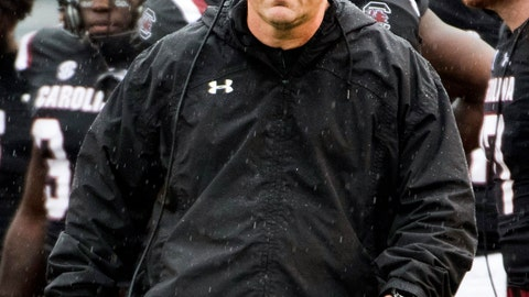 <p>               FILE - In this Dec. 1, 2018, file photo, South Carolina head coach Will Muschamp walks across the field during an NCAA college football game against Akron in Columbia, S.C. Muschamp's Gamecocks want to the have a strong finish to their season when they take on Virginia at the Belk Bowl next week. (AP Photo/Sean Rayford, File)             </p>