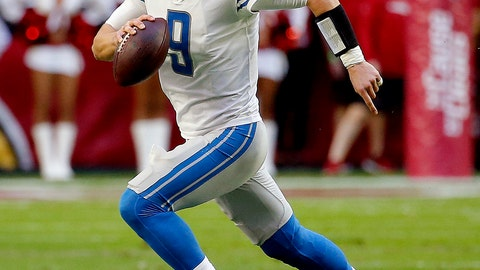 <p>               FILE - In this Dec. 9, 2018, file photo, Detroit Lions quarterback Matthew Stafford (9) scrambles against the Arizona Cardinals during the first half of NFL football game, in Glendale, Ariz. The Buffalo Bills (4-9) prepare to host the Detroit Lions (5-8) in a non-conference meeting of two teams under-going transitions. (AP Photo/Rick Scuteri, File)             </p>