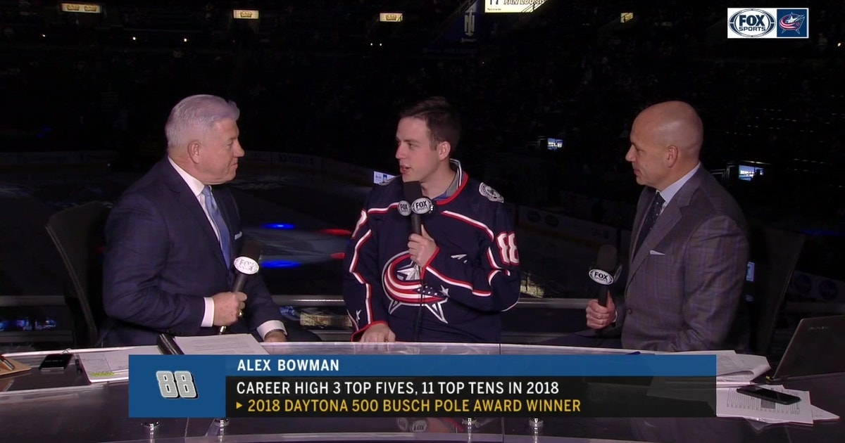 NASCAR driver Alex Bowman caps Columbus visit with Blue Jackets game