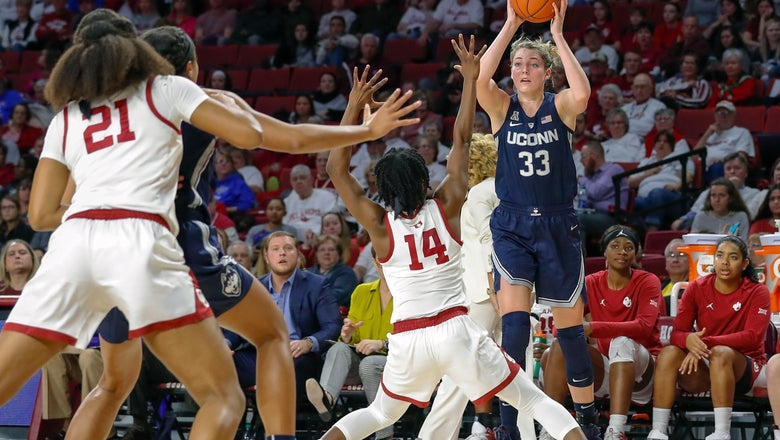 Collier helps No. 1 UConn women rally past Oklahoma, 72-63