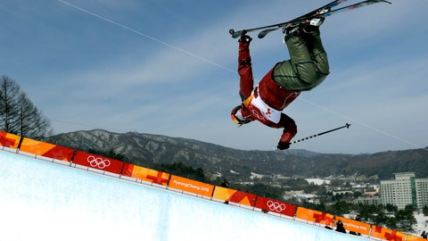 <p>               FILE - In this Feb. 19, 2018, file photo, Cassie Sharpe, of Canada, jumps during women's halfpipe qualifying at the 2018 Winter Olympics in Pyeongchang, South Korea. Sharpe was name-dropped in a tweet by movie star Ryan Reynolds, saw a little girl dressed up as her for Halloween and even got her face on a pair of socks owned by the prime minister. These things can happen when you win Olympic gold. (AP Photo/Gregory Bull, File)             </p>