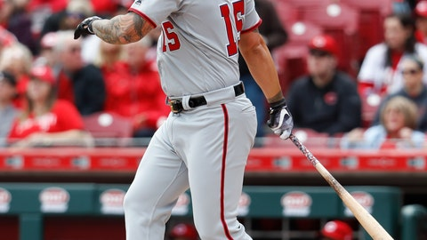 <p>               FILE - In this March 31, 2018, file photo, Washington Nationals' Matt Adams hits a three-run home run off Cincinnati Reds starting pitcher Luis Castillo in the first inning of a baseball game, n Cincinnati. The Nationals have agreed to terms a $4 million, one-year deal with first baseman Matt Adams that includes a mutual option for 2020. General manager Mike Rizzo announced the contract Tuesday, Dec. 18, 2018. He fills a void for Washington as a left-handed bat who is expected to split time at first base with Ryan Zimmerman. (AP Photo/John Minchillo, File)             </p>