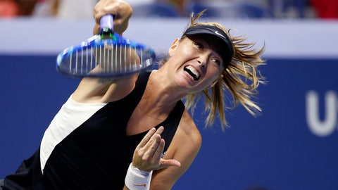 <p>               FILE - In this Monday, Sept. 3, 2018 file photo, Maria Sharapova, of Russia, returns a shot to Carla Suarez Navarro, of Spain, during the U.S. Open tennis tournament in New York. Maria Sharapova returned to competitive tennis with a 6-2, 7-6 (3) win against Timea Bacsinszky in the first round of Shenzhen Open on Monday, Dec. 31. Sharapova cut short her campaign in September to recover from shoulder complaint.  (AP Photo/Jason DeCrow, file)             </p>