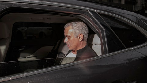 <p>               Manchester United former manager Jose Mourinho leaves the Lowry Hotel in Manchester, England, Tuesday, Dec. 18, 2018. Jose Mourinho was fired by Manchester United on Tuesday after failing to restore its status as a major European force in a turbulent 2½-year spell marked by clashes with players and increasing disgruntlement at the team's style of play. (AP Photo/Jon Super)             </p>