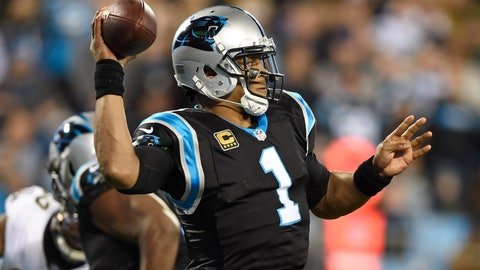<p>               Carolina Panthers' Cam Newton (1) looks to pass against the New Orleans Saints in the first half of an NFL football game in Charlotte, N.C., Monday, Dec. 17, 2018. (AP Photo/Mike McCarn)             </p>