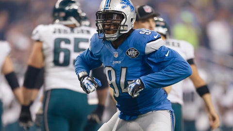 "<p>               FILE - In this Nov. 26, 2015, file photo, Detroit Lions defensive end Ezekiel ""ZIggy"" Ansah (94) celebrates after a play during an NFL football game against the Philadelphia Eagles in Detroit. The Detroit Lions have put defensive end Ziggy Ansah on injured reserve with a shoulder problem. The Lions also announced Tuesday, Dec. 11, 2018 that they have put tight end Michael Roberts on IR with a shoulder injury. Detroit signed tight end Jerome Cunningham and offensive lineman Leo Koloamatangi from the practice squad to the active roster. (AP Photo/Rick Osentoski, File)             </p>"