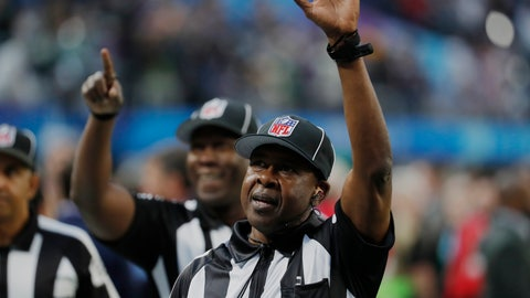 <p>               FILE - In this Feb. 4, 2018, file photo, umpires Roy Ellison (81), right, and Ruben Fowler (71), wave before the NFL Super Bowl 52 football game between the Philadelphia Eagles and the New England Patriots, in Minneapolis. A person familiar with the move says the NFL has fined umpire Roy Ellison $9,300 and reinstated him from administrative leave after his dispute in Miami with Buffalo Bills defensive end Jerry Hughes. The person confirmed the fine to The Associated Press on condition of anonymity Friday, Dec. 14, 2018, because the league hadn't commented. (AP Photo/Charlie Neibergall, File)             </p>