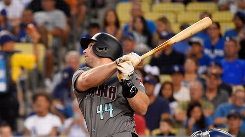 <p>               FILE - In this Aug. 31, 2018 file photo Arizona Diamondbacks' Paul Goldschmidt hits a two-run home run during the first inning of a baseball game against the Los Angeles Dodgers in Los Angeles. The St. Louis Cardinals have acquired Goldschmidt from the Diamondbacks in a multiplayer trade. The Cardinals sent pitcher Luke Weaver, catcher Carson Kelly, minor league infielder Andy Young and a 2019 draft pick to Arizona in the deal Wednesday, Dec. 5, 2018. (AP Photo/Mark J. Terrill)             </p>