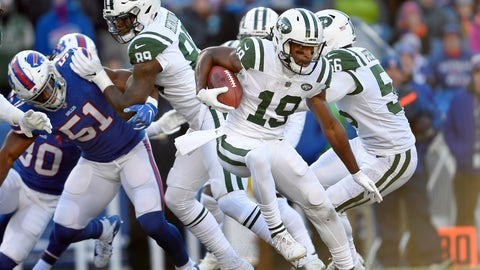 <p>               FILE - In this Sunday, Dec. 9, 2018, file photo, New York Jets' Andre Roberts (19) runs with the ball during the first half of an NFL football game against the Buffalo Bills in Orchard Park, N.Y. Roberts is a travelin' man who enjoys hitting the road. You name a destination and there's a good chance the Jets kick returner has been there. After all, Roberts has visited all seven continents. (AP Photo/Adrian Kraus, File)             </p>