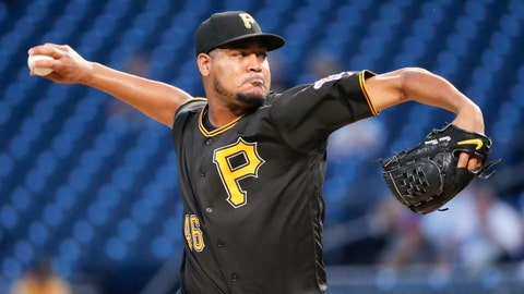 <p>               FILE - In this Sept. 21, 2018, file photo, Pittsburgh Pirates' Ivan Nova delivers against the Milwaukee Brewers in the first inning of a baseball game, in Pittsburgh. Nova has been acquired by the Chicago White Sox from the Pittsburgh Pirates for minor league pitcher Yordi Rosario and international signing bonus pool allocation. The trade was announced at the baseball meetings in Las Vegas Tuesday, Dec. 11, 2018. (AP Photo/Keith Srakocic, File)             </p>