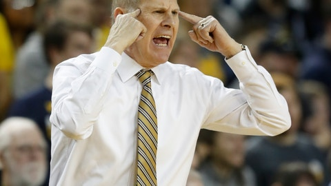 <p>               Michigan head coach John Beilein reacts after a call during the first half of an NCAA college basketball game against Binghamton, Sunday, Dec. 30, 2018, in Ann Arbor, Mich. (AP Photo/Carlos Osorio)             </p>
