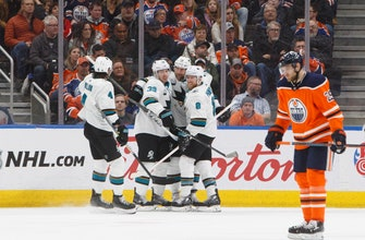 Karlsson, Couture lift Sharks over Oilers 7-4