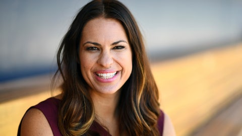"<p>               This April 18, 2017, photo provided by ESPN shows Jessica Mendoza posed at Dunkin' Donuts Park in Hartford, Conn. Mendoza will have more of a presence on various ESPN platforms starting next baseball season. Mendoza signed a multiyear extension with ESPN to remain part of the ""Sunday Night Baseball"" announcer's booth and make more studio appearances. (Joe Faraoni/ESPN Images via AP)             </p>"