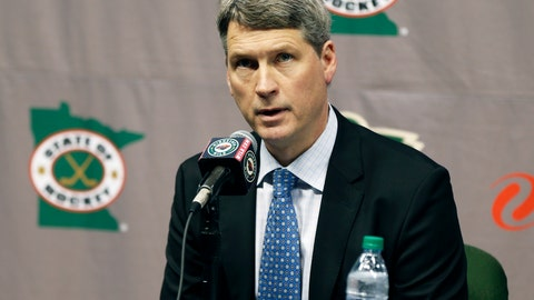 <p>               FILE - In this May 10, 2016, file photo, Minnesota Wild general manager Chuck Fletcher speaks at a news conference in St. Paul, Minn. The Philadelphia Flyers have hired Fletcher as their general manager in hopes that he can resuscitate one of the worst teams in the NHL. The Flyers announced the move Monday, Dec. 3, 2018. The 51-year-old Fletcher will replace the fired Ron Hextall. (AP Photo/Jim Mone, File)             </p>