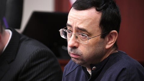 <p>               FILE - In this Tuesday, Jan. 23, 2018, file photo, Larry Nassar looks at the gallery in the court during the sixth day of his sentencing hearing in Lansing, Mich. The 233 pages of details about how Olympic leaders and the FBI responded, or didn't, to sex-abuse allegations against Nassar was yet another entry in an endless exercise in looking backward to respond to a crisis that needs some new ideas and better execution before anything is truly fixed. (Dale G. Young/Detroit News via AP, File)             </p>