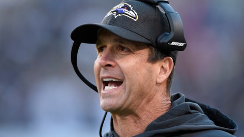 <p>               FILE - In this Oct. 21, 2018, file photo, Baltimore Ravens coach John Harbaugh stands on the sideline during the first half of the team's NFL football game against the New Orleans Saints in Baltimore. Harbaugh will return to coach the Ravens next season, and the team says it's working on an extension beyond 2019. Harbaugh took over as Baltimore's coach in 2008 and has taken the team to the playoffs six times, winning the Super Bowl in 2012. (AP Photo/Nick Wass, File)             </p>