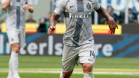 "<p>               FILE - In this Saturday, Sept. 15, 2018 file photo Inter Milan's Radja Nainggolan controls the ball during the Serie A soccer match between Inter Milan and Parma at the San Siro Stadium, in Milan, Italy. Inter Milan has suspended midfielder Radja Nainggolan ""for disciplinary reasons."" In a brief statement on Sunday, Dec. 23, 2018, Inter says ""FC Internazionale Milano can confirm that Radja Nainggolan has been temporarily suspended from football activity for disciplinary reasons.""(AP Photo/Antonio Calanni, File)             </p>"
