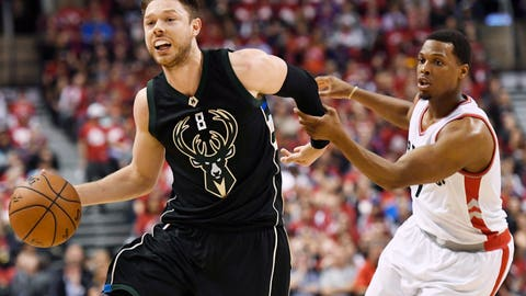<p>               FILE - In this April 24, 2017 file photo, Milwaukee Bucks guard Matthew Dellavedova (8) drives to the net against Toronto Raptors guard Kyle Lowry (7) during the second half of game five of an NBA first-round playoff series basketball game in Toronto.  Dellavedova is coming back to the Cavaliers. He won't recognize them. Cleveland re-acquired the popular, scrappy guard on Friday in a three-team trade with the Milwaukee Bucks and Washington Wizards. (Frank Gunn/The Canadian Press via AP, File)             </p>