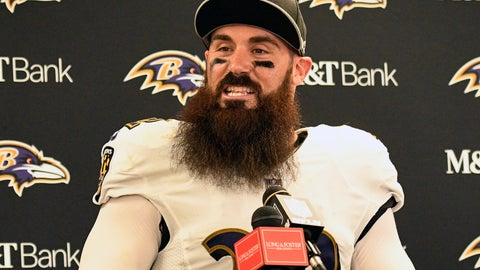 <p>               FILE - In this Oct. 1, 2018, file photo, Baltimore Ravens defensive back Eric Weddle talks with reporters after a 26-14 win over the Pittsburgh Steelers in an NFL football game in Pittsburgh. Weddle intends to put all nostalgic feelings aside when he faces his former team, the Chargers, on Saturday night in a pivotal AFC matchup. (AP Photo/Don Wright, File)             </p>