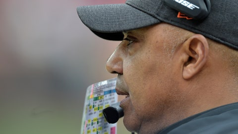 <p>               Cincinnati Bengals head coach Marvin Lewis watches during the first half of an NFL football game against the Cleveland Browns, Sunday, Dec. 23, 2018, in Cleveland. (AP Photo/David Richard)             </p>
