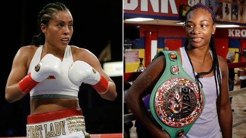 <p>               FILE - At left, in a May 5, 2018, file photo, Cecilia Braekhus, of Norway, is shown in action during a fight against Kali Reis, in Carson, Calif. At right, in an Aug. 1, 2017, file photo, Claressa Shields poses in the Kronk gym ring during a media availability, in Detroit. Cecilia Braekhus was in the first women's boxing match on HBO, and the dominant Norwegian champion will be in the main event of HBO's final boxing show Saturday night when she defends her welterweight titles against Aleksandra Magdziak-Lopes. On the undercard, two-time Olympic gold medalist Claressa Shields defends her middleweight belts against Femke Hermans. (AP Photo/File)             </p>