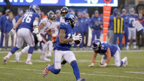 <p>               New York Giants wide receiver Odell Beckham prepares to launch a touchdown pass to wide receiver Russell Shepard, not pictured, during the second half of an NFL football game, Sunday, Dec. 2, 2018, in East Rutherford, N.J. (AP Photo/Seth Wenig)             </p>