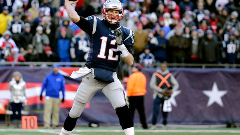 <p>               File-This Dec. 23, 2018, file photo shows New England Patriots quarterback Tom Brady passing against the Buffalo Bills during the second half of an NFL football game, in Foxborough, Mass.  Brady and the Patriots are the only team in the NFL without a loss at home (7-0). They could complete an undefeated home regular season for the seventh time since 2002 with a sixth straight victory over the Jets. (AP Photo/Elise Amendola, File)             </p>