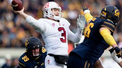 <p>               Stanford quarterback K.J. Costello (3) passes against California  in the second quarter of a football game in Berkeley, Calif., Saturday, Dec. 1, 2018. (AP Photo/John Hefti)             </p>