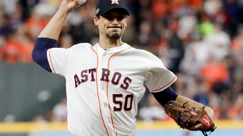 <p>               FILE - In this Wednesday, Oct. 17, 2018 file photo, Houston Astros starting pitcher Charlie Morton throws against the Boston Red Sox during the first inning in Game 4 of a baseball American League Championship Series in Houston. A person familiar with the agreement tells The Associated Press that All-Star pitcher Charlie Morton and the Tampa Bay Rays have reached a $30 million, two-year deal. The person spoke on condition of anonymity Wednesday, Dec. 12, 2018 because the contract has not been officially announced. (AP Photo/Frank Franklin II, File)             </p>