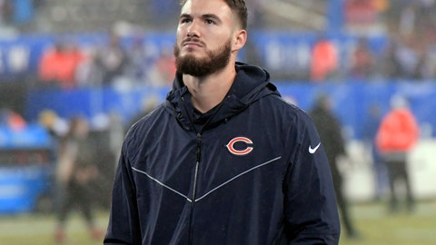 <p>               FILE - In this Sunday, Dec. 2, 2018, file photo, Chicago Bears quarterback Mitchell Trubisky leaves the field after an NFL football game against the New York Giants in East Rutherford, N.J. Mitchell Trubisky expects to return against the Los Angeles Rams after missing the past two games because of a right shoulder injury.  (AP Photo/Bill Kostroun, File)             </p>