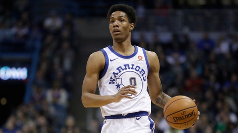 <p>               FILE - In this Jan. 12, 2018 file photo, Golden State Warriors' Patrick McCaw dribbles during the first half of an NBA basketball game against the Milwaukee Bucks in Milwaukee. McCaw is practicing with the Cavaliers, who signed him to a two-year, $6 million offer sheet last week. McCaw officially joined the Cavaliers' roster on Monday, Dec. 31 after Golden State decided not to match Cleveland's offer. (AP Photo/Morry Gash, File)             </p>