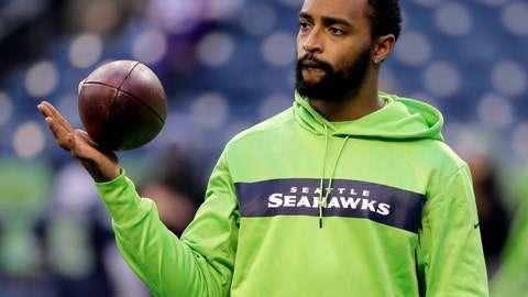 <p>               FILE - In this Monday, Dec. 10, 2018, file photo, Seattle Seahawks' Doug Baldwin looks on during warm-up before an NFL football game against the Minnesota Vikings in Seattle. Baldwin has been fortunate to have spent eight years in the NFL without having a season defined injuries affecting his play, until this year. (AP Photo/Ted S. Warren, File)             </p>